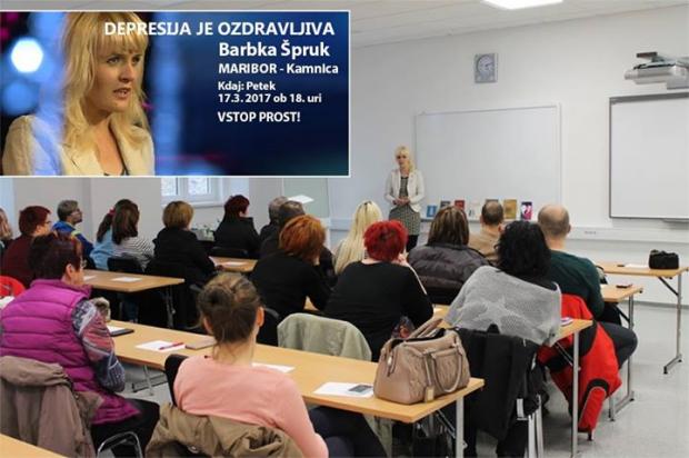 "PREDAVANJE: Depresija je ozdravljiva""  v Kamnici pri Mariboru. VSTOP JE PROST!"