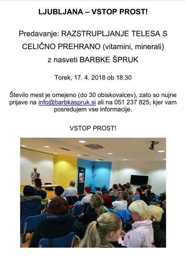 Predavanje: RAZSTRUPLJANJE TELESA S CELIČNO PREHRANO (vitamini, minerali)