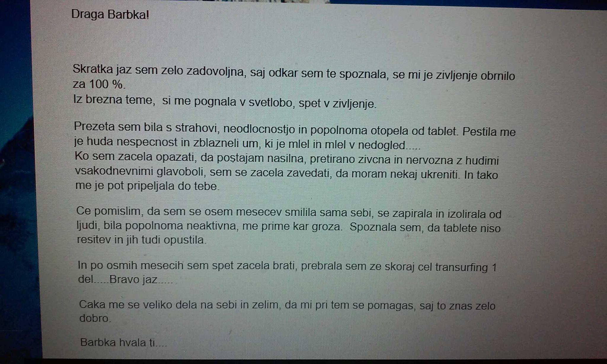 Draga Barbka!